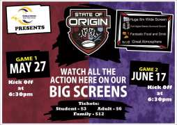 P and C Fundraiser State of Origin