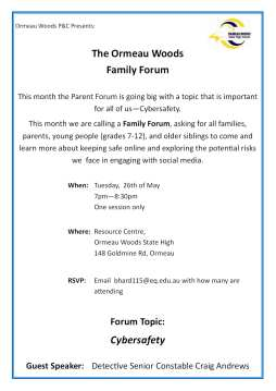 Parent Forum topic Cybersafety
