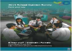 2015 School Opinion Survey Preliminary Report