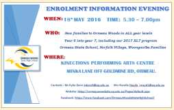 2017 Enrolment Information Evening