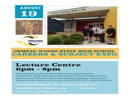 Ormeau Woods SHS Careers and Subject Expo