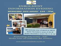 Enrolment Information Evening